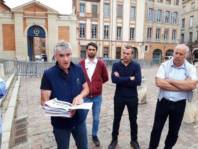 Philippe Lacube devant la préfecture d'Occitanie, le 2 juillet 2020 à Toulouse.