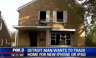 Un propriétaire souhaite échanger sa maison contre un iPhone 6 ou un iPad.