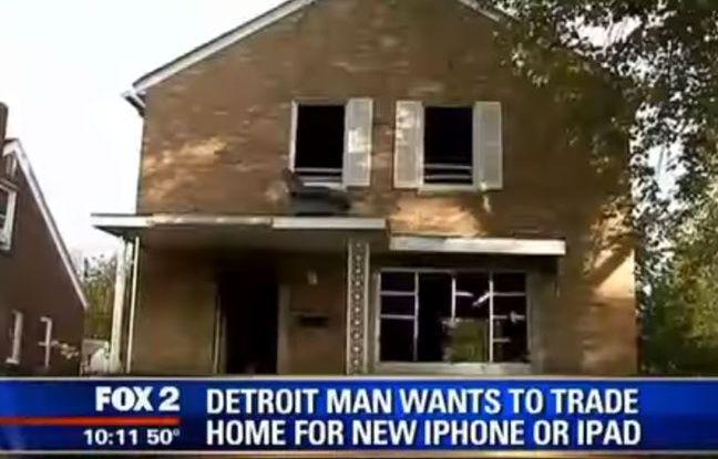 video etats unis il vend sa maison contre un iphone 6. Black Bedroom Furniture Sets. Home Design Ideas