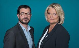 Marina Carrère d'Encausse, animatrice du «Magazine de la santé» sur France 5, au côté du producteur de l'émission, Benoît Thévenet.