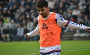 Yassin Fekir, ici à l'échauffement ce samedi, a participé à son deuxième match de CFA ce samedi.