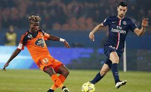 Javier Pastore lors du match entre le PSG et Lorient le 20 mars 2015.