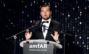 Leonardo Dicaprio au gala amfAR, au profit de la lutte contre le Sida, le 19 mai 2016 à Cannes