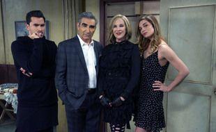 La famille Rose dans la sitcom « Bienvenue à Schitt's Creek ».