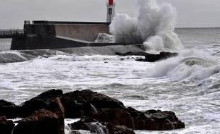Des vents violents et l'Europe sous la neige