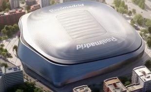 Voilà à quoi ressemblera le nouveau stade Santiago-Bernabeu, à Madrid.