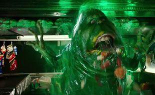 un fantôme vert