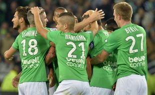 L'équipe de Saint-Etienne contre Nice, le 27 septembre 2015 au stade Geoffroy-Guichard