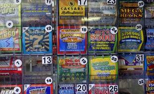 Illustration de tickets de loterie aux Etats-Unis.