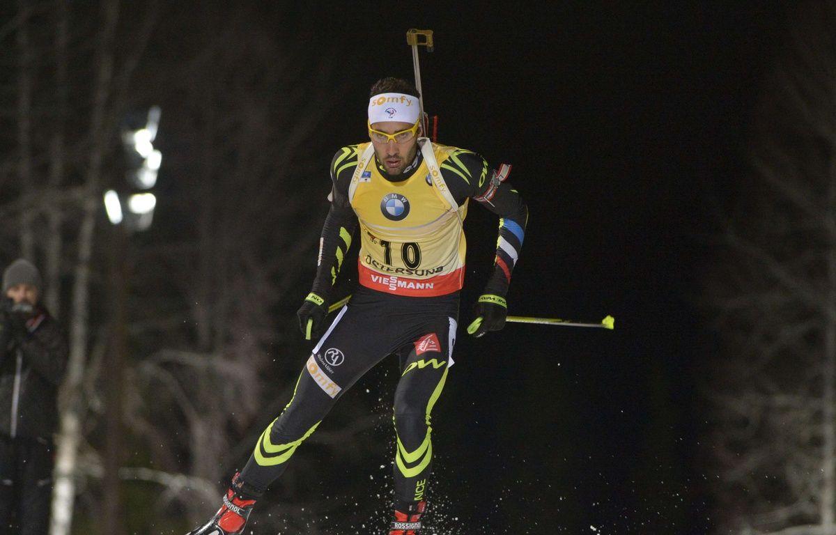 Martin Fourcade lors de l'individuel de la manche de Coupe du monde d'Ostersund, le 3 décembre 2014. – Marcus Eriksson / TT/AP/SIPA