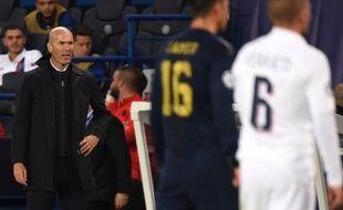 Zidane et le Real ont subi une lourde défaite au Parc des Princes, le 17 septembre 2019.