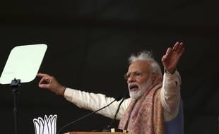 Narendra Modi en meeting
