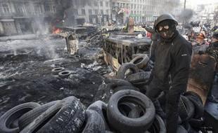 Manifestants àKiev (Ukraine), le 26 janvier 2014.