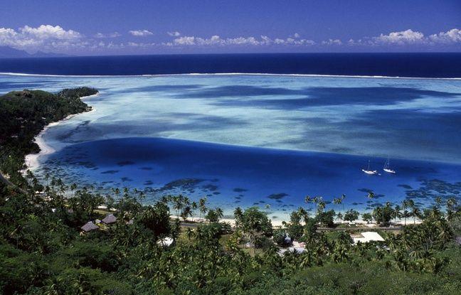 La plage de Bora-Bora, en Polynésie Française.