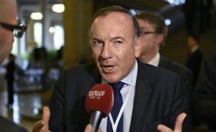 Le président du Medef Pierre Gattaz le 19 octobre 2015 à Paris