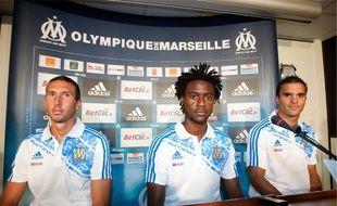 Morgan Amalfitano, Nicolas N'Koulou et Jérémy Morel ont été présentés hier au centre Robert Louis-Dreyfus.
