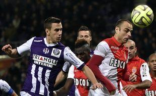 L'attaquant de l'AS Monaco Dimitar Berbatov, le 14 décembre 2014 à Toulouse.