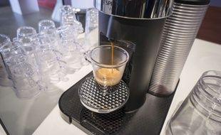 Illustration d'une machine à café Nespresso