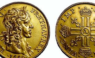 Ce rarissime lot de quatre louis en or fabriqué pour Louis XIII, a été vendu 288.000 euros à Bordeaux.