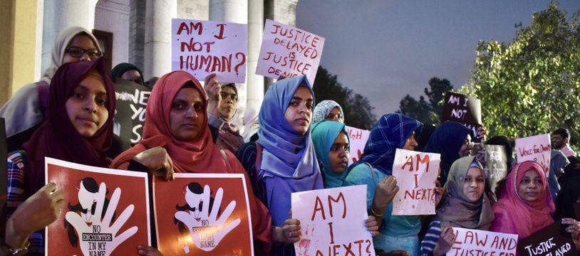 Des manifestations contre les violences sexuelles et les viols à  Bangalore en Inde, le 11 décembre 2019.