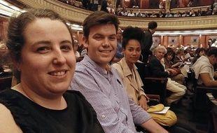 Clara, Etienne et Mélissa à l'Opéra comique, dernière étape de leur initiation à la musique classique.