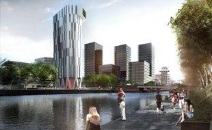 La tour Elithis à Strasbourg est la première de logements à énergie positive au monde.