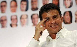Manuel Valls, le 26 août 2011, à l'université d'été de La Rochelle.