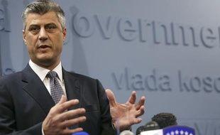 Le Premier ministre du Kosovo, Hashim Thaci, pendant un discours à Pristina, le 16 décembre 2010.