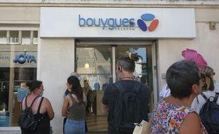Une boutique Bouygues Telecom (Illustration)