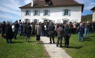 Une cérémonie de commémoration au mémorial d'Izieu, le 6 avril 2010.