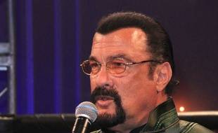 L'acteur Steven Seagal à Hollywood