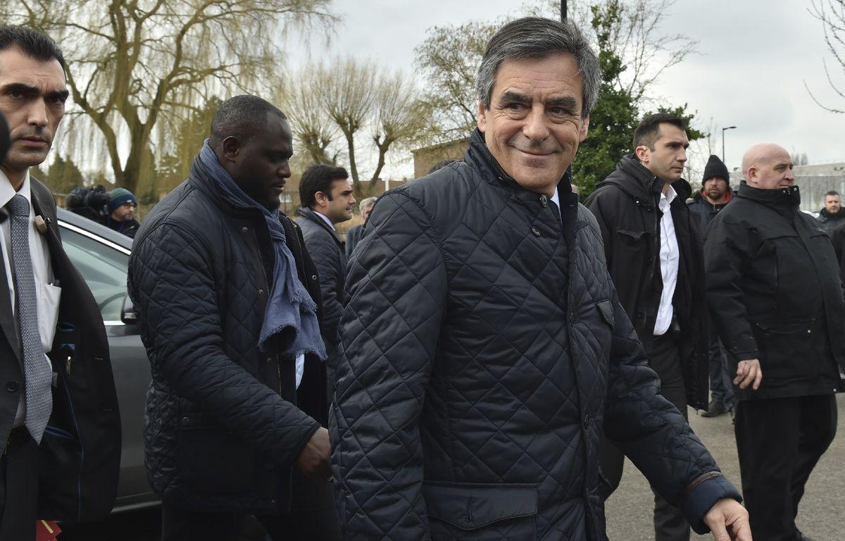 François Fillon en déplacement à Tourcoing le 17 fevrier.  – PHILIPPE HUGUEN / AFP