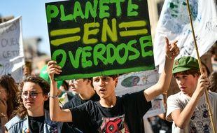 A Bordeaux, le 20 septembre, des jeunes de «Youth for climate» manifestent pour le climat