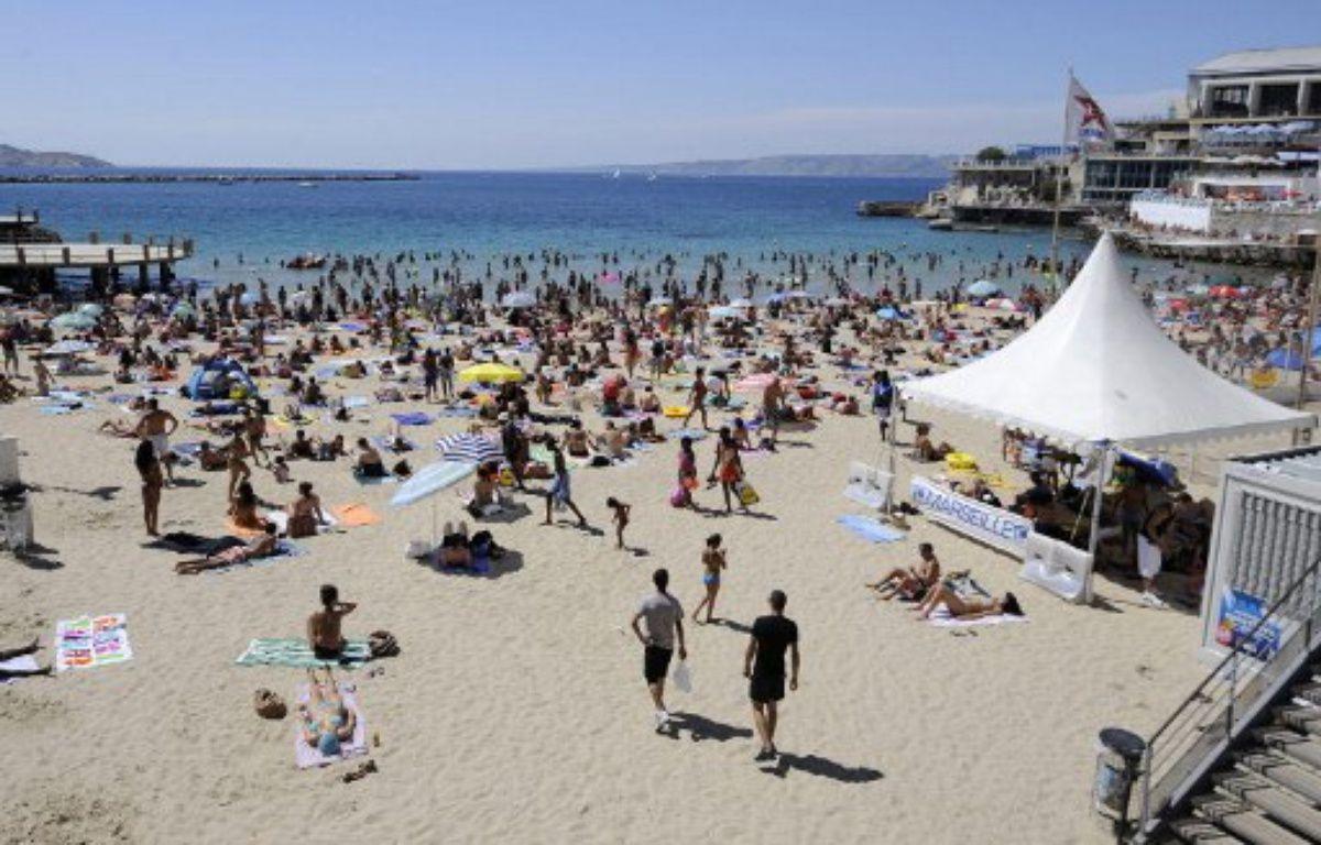 Marseille, le 1er août 2010. Deux viols ont été commis sur la plage des Catalans en juillet 2010. – VINCENT BEAUME / AFP
