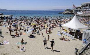 Marseille, le 1er août 2010. Deux viols ont été commis sur la plage des Catalans en juillet 2010.