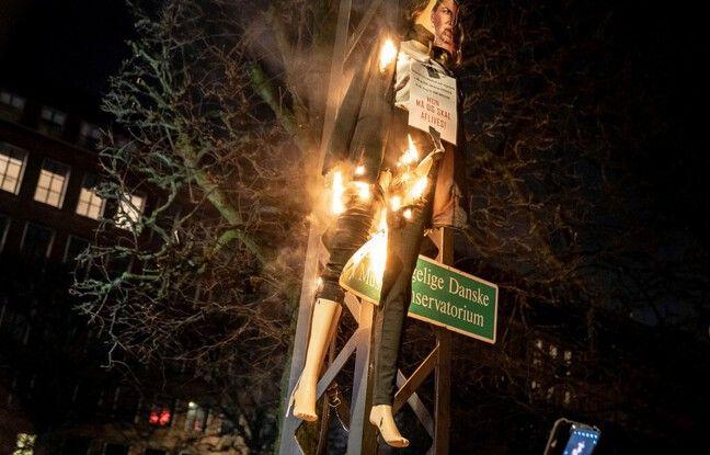 648x415 efigie premiere ministre danemark sociale democrate mette frederiksen brulee lors precedente manifestation archives