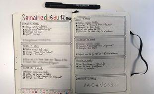 Mélanie Wanga, journaliste à 20 Minutes, a accepté de nous montrer son Bullet Journal