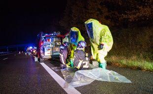 L'intervention périlleuse des pompiers de Haute-Garonne.