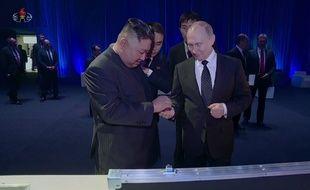 Kim Jong-un et Vladimir Poutine à Vladivostok en avril 2019.