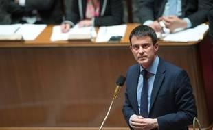 Le Premier Ministre Manuel Valls à l'Assemblée nationale en avril 2014.