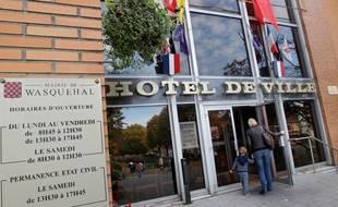 Wasquehal, le 23 octobre 2012. La facade de l'hotel de ville.