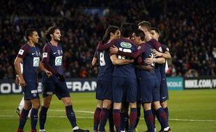 Le PSG a battu Guingamp en 16e de finale de la Coupe de France (4-2), le 24 janvier 2018.