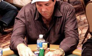 Le joueur français David Benyamine à sa table lors des WSOP 2010 à Las Vegas (photo prise le jeudi 8 juillet 2010)