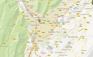 Google map de Grenoble.