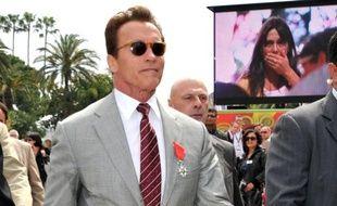 Arnold Schwarzenegger à la 48e édition du MIPTV à Cannes, le 4 avril 2011