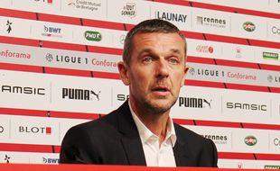 Le président du Stade Rennais Nicolas Holveck, ici le 22 juin 2020.