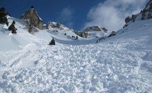 Photo d'illustration d'avalanche.