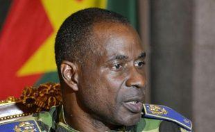 Le général de brigade Gilbert Diendéré, le 17 septembre 2015 au palais présidentiel à Ouagadougou