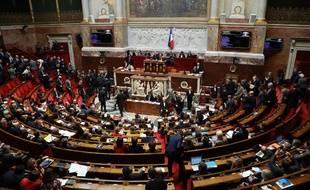 Séance à l'Assemblée nationale, le 21 mars 2018.