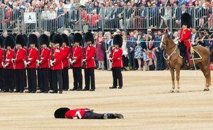 Un garde royal s'effondre lors des 90 ans de la reine.